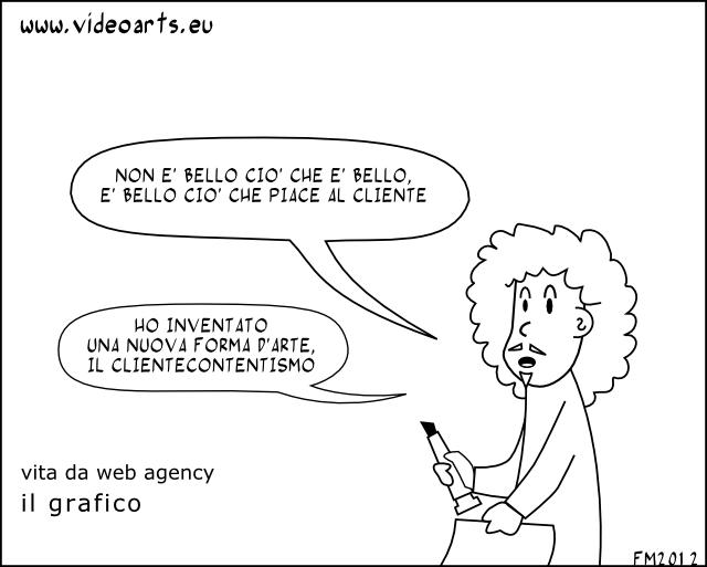 vita da web agency, il grafico