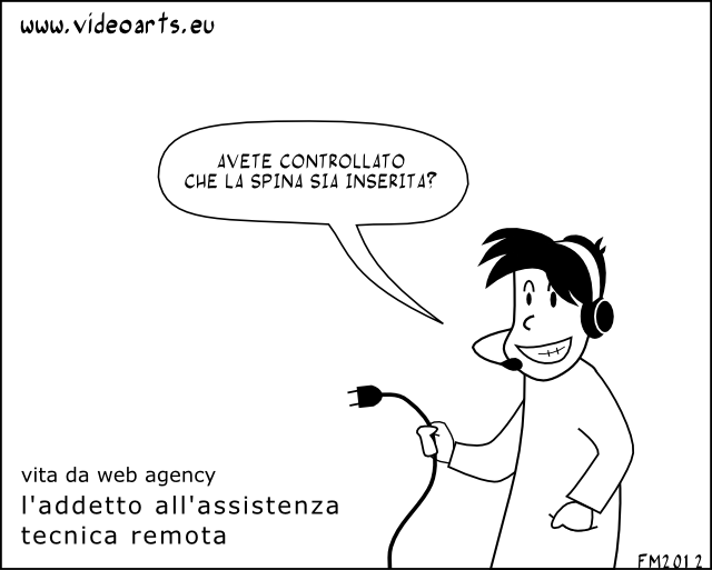 vita da web agency, l'addetto all'assistenza remota